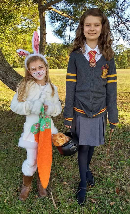 Hermione and bunny costume